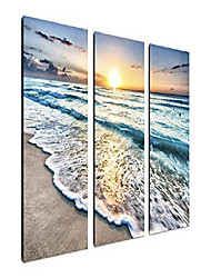 cheap -3 panel beach canvas wall art for home decor blue sea sunset white beach painting the picture print on canvas seascape the pictures for home decor decoration,ready to hang