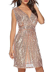 cheap -women 1920s sequin fringe strap v neck club prom dress with 20s gatsby accessories set & #40;l, style 2 pink& #41;