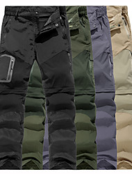 cheap -Men's Hiking Pants Trousers Convertible Pants / Zip Off Pants Summer Outdoor Water Resistant Quick Dry Multi Pockets Lightweight Zipper Pocket Elastic Waist Pants / Trousers Bottoms Army Green Grey