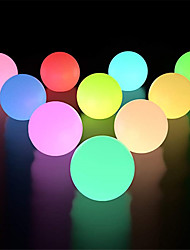 cheap -10pcs 6pcs 2pcs 1pc RGB Outdoor Garden Glowing Ball Lights 3inch 7.8cm Patio Landscape Pathway LED Illuminated Ball Table Lawn Lamps