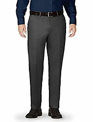 cheap -men's pants - 32 x 29 gray - expandable waist dress or casual slacks - work, golf, chinos