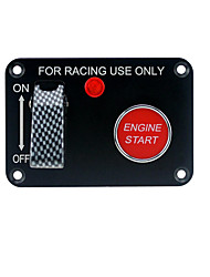 cheap -12V car racing two sets of toggle switches panel 1 carbon fiber 1 ignition switch (with light)