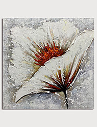 cheap -Oil Painting Paint Handmade Abstract Flower Canvas Art Modern Art with Stretcher Ready to Hang With Stretched Frame