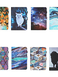 cheap -Case For  iPad air 1 air2 air3 pro 10.2 10.5 11 inches 2020  9.7 inches 2019 2018 2017 Card Holder Shockproof Pattern Full Body Cases Animal PU Leather TPU Auto Sleep Wake Up magnetic buckle