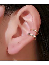 cheap -Women's Pearl Ear Cuff Ear Clips Single Earring Geometrical Fashion Simple Basic Earrings Jewelry Gold / Silver For Formal Date Vacation Beach Festival 1pc