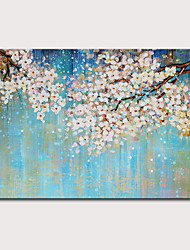 cheap -Oil Painting Hand Painted Horizontal Floral / Botanical Abstract Landscape Modern Rolled Canvas (No Frame)