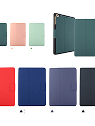 cheap -Case For Apple iPad 2 3 4 Air Air2 Air3  ipad pro 9.7 ipad pro 10.5 ipad 10.2(2019) Shockproof Flip Full Body Cases  PU Leather TPU with pencil holder Solid Colored Auto Sleep Wake Up magnetic buckle