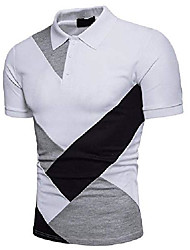 cheap -but& #39;s casual white polo shirts - patchwork tops cotton modern blouse essentials clothing 2xl