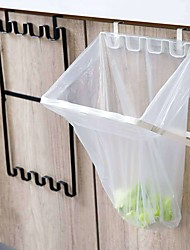 cheap -Kitchen Rubbish Bag Storage Garbage Cabinet Stand Organizer Hanger Folding Holder Racks Hanging Container