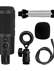 cheap -USB Microphone Condenser Recording Microphone with Stand and Ring Light for PC Karaoke Streaming Voice Podcasting for Youtube