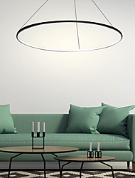 cheap -1-Light 60(24'') LED Pendant Light Metal Acrylic Circle Chrome Modern Contemporary 110-120V 220-240V
