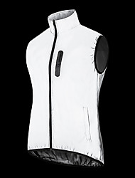 cheap -WOSAWE Men's Sleeveless Cycling Vest Silver Bike Windproof Warm Sports Solid Color Clothing Apparel
