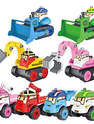 cheap -Model Building Kit Construction Truck Toys Pull Back Car / Inertia Car Creative Crane Dozer Excavator DIY Parent-Child Interaction Plastic Mini Car Vehicles Toys for Party Favor or Kids Birthday Gift