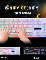 cheap -LITBest G20 USB Wired Mouse Keyboard Combo Color Gradient Backlit Spill-Resistant Gaming Keyboard Luminous Gaming Mouse Ergonomic Mouse 1600 dpi