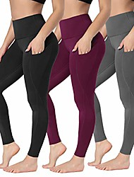 cheap -yoga pants for women with pocket - high waist non see through yoga leggings for workout athletic runnig cycling & #40;xs(us: 0-2), 3 pairs & #40;black purple   gray& #41;& #41;