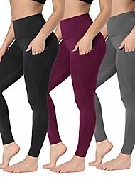 رخيصةأون -سروال اليوغا للنساء مع الخصر - جيب لا يرى من خلال طماق اليوغا لممارسة رياضة الجري وركوب الدراجات& # 40 ؛ XS (الولايات المتحدة: 0-2) ، 3 أزواج& # 40 ؛ أسود أرجواني رمادي& # 41 ؛& # 41 ؛