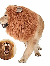 cheap -dog lion mane costume - funny adjustable lion wig- dog costumes pet wig suitable medium to large sized dogs