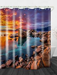 povoljno -morska grebena ispod zavjesa za crveni zalazak sunca& kuke modernog poliestera novi dizajn