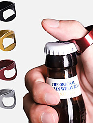 cheap -2pcs Bottle Opener Multi-function Stainless Steel Colorful Ring-Shape Opener Beer Bottle Opener Diameter 22mm