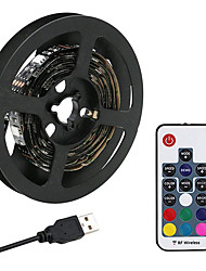 cheap -5V LED Light Strips RGB Tiktok Lights 60 LEDs 5050 SMD 10mm 2M LED LED Light Strips 17-Key Remote Controller RGB Tiktok Lights TV Background Light
