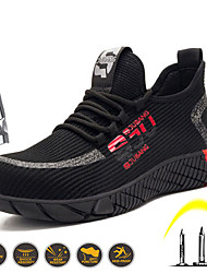cheap -Summer New Style Breathable Flying Fabric Labor Protection Shoes Men's Fashion Casual Wear-resistant Antiskid And Puncture