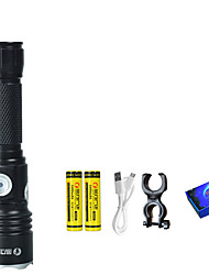 cheap -LED Flashlights / Torch Black Light Flashlights / Torch Headlight LED Emitters 4 Mode with Batteries and USB Cable LED 2 in 1 Camping / Hiking / Caving Everyday Use Cycling / Bike Outdoor USB Cold