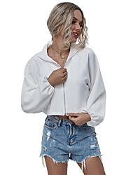 halpa -Naisten Pullover-huppari Yhtenäinen Perus Hupparit paidat Beesi