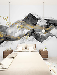 cheap -Art Deco   Landscape Home Decoration Modern Wall Covering smoke Canvas Material Adhesive required Wallpaper / Mural / Wall Cloth Room Wallcovering