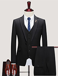 cheap -Tuxedos Standard Fit Notch Single Breasted One-button Polyester Stripes