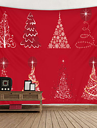 cheap -Christmas Weihnachten Santa Claus Wall Tapestry Art Decor Blanket Curtain Picnic Tablecloth Hanging Home Bedroom Living Room Dorm Decoration Animal Christmas Tree Gift Polyester