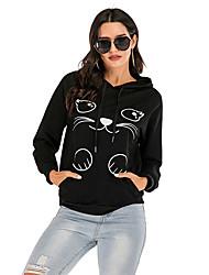 cheap -Women's Pullover Hoodie Sweatshirt Animal Casual Hoodies Sweatshirts  Black