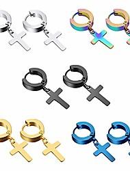 cheap -stainless steel mens womens hoop earrings piercings huggie hypoallergenic