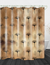cheap -Vintage Flower Glass Digital Print Waterproof Fabric Shower Curtain For Bathroom Home Decor Covered Bathtub Curtains Liner Includes With Hooks