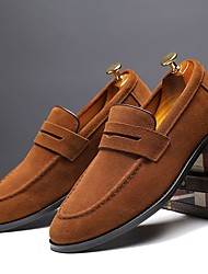 cheap -Men's Loafers & Slip-Ons Business Daily Suede Wear Proof Black Yellow Green Fall