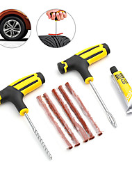 cheap -Auto Car Tire Repair Kit Car Bike Auto Motorcycle Tubeless Tire Tyre Puncture Plug Repair Needle Tool Kit Car Accessories