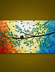 cheap -Unframed Panel Colorful Tree Birds Modern Hand Painted Oil Painting Home Wall Art Canvas Unique Gift For Wedding Decoration Rolled Without Frame