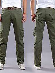cheap -Men's Hiking Cargo Pants Outdoor Loose Breathable Soft Anti-tear Multi-Pocket Cotton Pants / Trousers Black Army Green Khaki Coffee Fishing Climbing Camping / Hiking / Caving 28 29 30 31 32