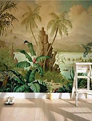 cheap -Art Deco  Custom Self Adhesive Mural Wallpaper Nostalgic Landscape Suitable For Bedroom Living Room Cafe Restaurant Hotel Wall Decoration Art