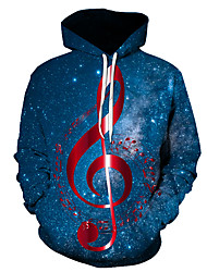 cheap -Men's Plus Size Pullover Hoodie Sweatshirt Graphic Music Hooded Going out Club 3D Print Basic Casual Hoodies Sweatshirts  Long Sleeve Gold Rainbow Red
