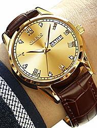 Недорогие -коричневые кожаные часы мужские, мужские дневные часы, мужские светящиеся кварцевые часы, модные повседневные часы для мужчин, водонепроницаемые мужские часы, мужские часы со скидкой, мужские деловые
