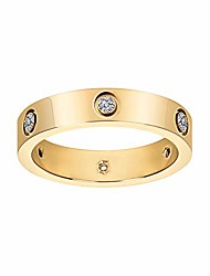 cheap -fashion classic 18k gold plated titanium steel women ring best gifts couples valentine's day (gold, 10)