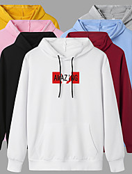 cheap -Women's Hoodie Pullover Artistic Style Hoodie Letter Printed Sport Athleisure Hoodie Top Long Sleeve Warm Soft Oversized Comfortable Everyday Use Exercising General Use / Winter