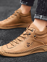 cheap -Men's Trainers / Athletic Shoes Classic / British Daily Office & Career Walking Shoes PU Almond / Light Brown / Black Fall / Winter