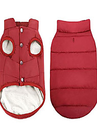 cheap -windproof dog winter coat waterproof dog jacket warm dog vest cold weather pet apparel with 2 layers fleece lined for small medium large dogs