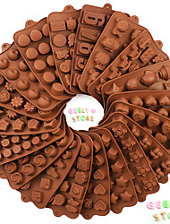 cheap -Silicone Chocolate Mold  DIY Non-stick Cake Jelly and Candy Mold 1 Pc