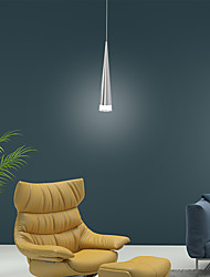 cheap -1-Light 2pcs Cone LED Pendant Light Downlight Silver Chrome Alumnium LED 5W Mini Style for Bar Kitchen Dinning Room Bedroom