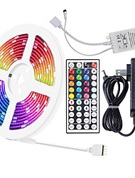 cheap -16.5ft 5m 5050 RGB LED Strip Light Full Color with 44-Key IR Remote Adapter Light Strip Kit DC12V Color Changing for Bedroom Home Party DIY Decoration