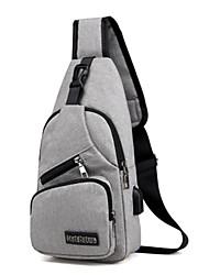 cheap -Men's Bags Oxford Cloth Sling Shoulder Bag Chest Bag Zipper Daily MessengerBag Black Dark Blue Gray