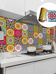 cheap -Creative Kitchen Oil and Waterproof Tile Stickers Self-adhesive Removable Moroccan Style Environmental Protection Wall Stickers
