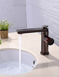 cheap -Bathroom Sink Faucet - Rotatable / Standard Deck Mounted Basin Faucet Anodizing Finished Centerset Single Handle One Hole Bath Vainity Vessel Sink Hot & Cikd Watwe Mixer Taps